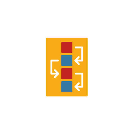 Workflow icon. Simple flat element from design ui and ux collection. Creative workflow icon for templates, software and apps.