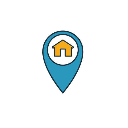 House Location icon. Simple element from real estate icons collection. Creative House Location icon ui, ux, apps, software and infographics. Illusztráció