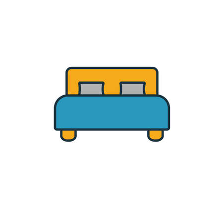 Bedroom icon. Simple element from real estate icons collection. Creative Bedroom icon ui, ux, apps, software and infographics.  イラスト・ベクター素材