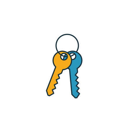 Keys icon. Simple element from real estate icons collection. Creative Keys icon ui, ux, apps, software and infographics.