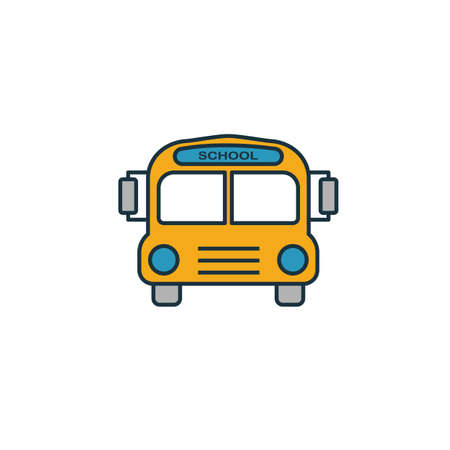 School Bus icon. Simple element from school icons collection. Creative School Bus icon ui, ux, apps, software and infographics. Illusztráció