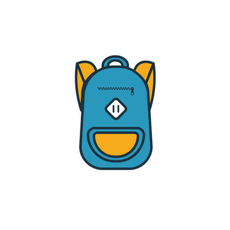 Backpack icon. Simple element from school icons collection. Creative Backpack icon ui, ux, apps, software and infographics. Illusztráció
