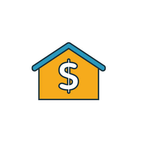 House Price icon. Simple element from real estate icons collection. Creative House Price icon ui, ux, apps, software and infographics.