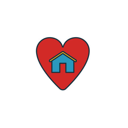 Favorite House icon. Simple element from real estate icons collection. Creative Favorite House icon ui, ux, apps, software and infographics.