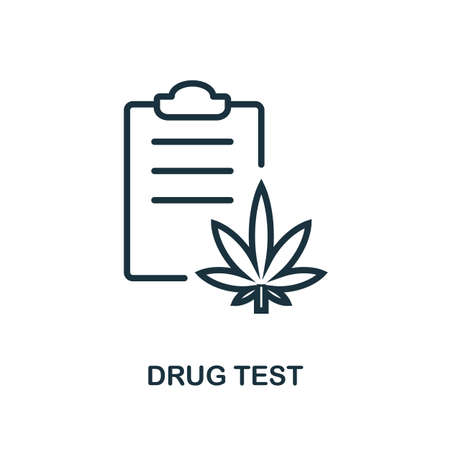 Drug Tests icon outline style. Thin line creative Drug Tests icon for graphic design and more.