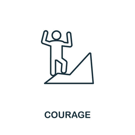 Courage icon outline style. Thin line creative Courage icon for graphic design and more.