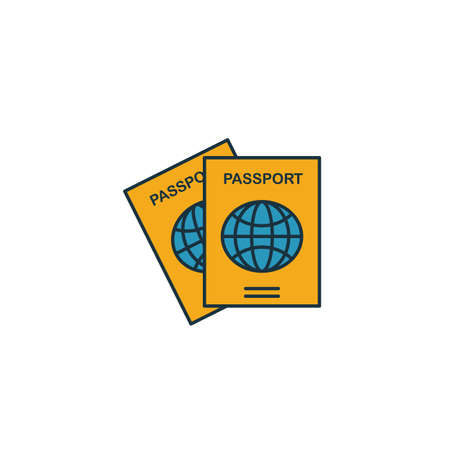 Passport icon. Simple element from travel icons collection. Creative Passport icon ui, ux, apps, software and infographics.