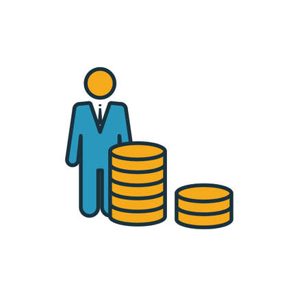 Venture Capital icon. Simple element from startup icons collection. Creative Venture Capital icon ui, ux, apps, software and infographics. Vectores