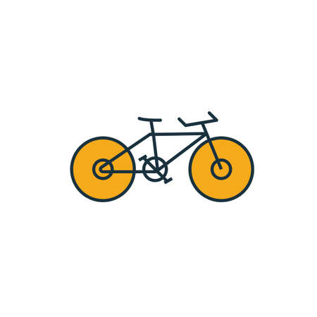 Bike icon. Simple element from travel icons collection. Creative Bike icon ui, ux, apps, software and infographics. Archivio Fotografico - 133153989