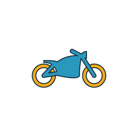 Motorcycle icon. Simple element from transport icons collection. Creative Motorcycle icon ui, ux, apps, software and infographics. Archivio Fotografico - 133153398