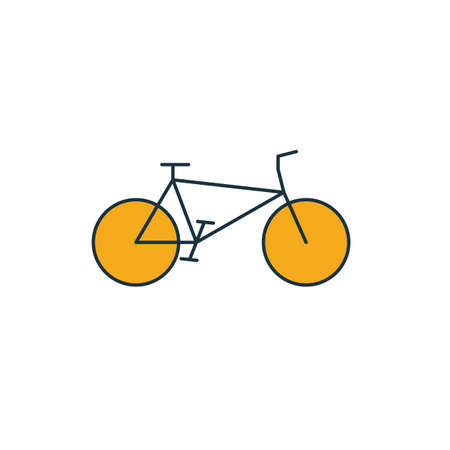 Bicycle icon. Simple element from transport icons collection. Creative Bicycle icon ui, ux, apps, software and infographics. Archivio Fotografico - 133153527