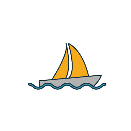 Sailing Ship icon. Simple element from transport icons collection. Creative Sailing Ship icon ui, ux, apps, software and infographics.