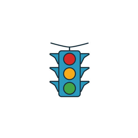 Traffic Light icon. Simple element from transport icons collection. Creative Traffic Light icon ui, ux, apps, software and infographics. Banque d'images - 133153978