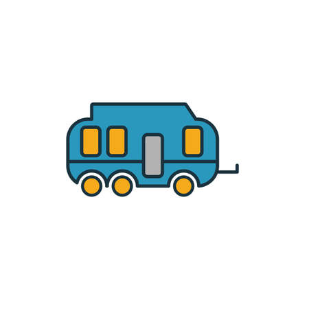 Camping Trailer icon. Simple element from travel icons collection. Creative Camping Trailer icon ui, ux, apps, software and infographics.