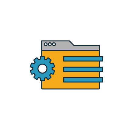 Content Management icon. Simple element from web development icons collection. Creative Content Management icon ui, ux, apps, software and infographics.