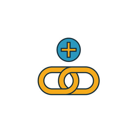 Link Building icon. Simple element from web development icons collection. Creative Link Building icon ui, ux, apps, software and infographics. 矢量图像