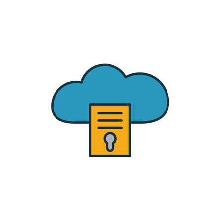 File Access icon. Simple element from web hosting icons collection. Creative File Access icon ui, ux, apps, software and infographics. Illusztráció