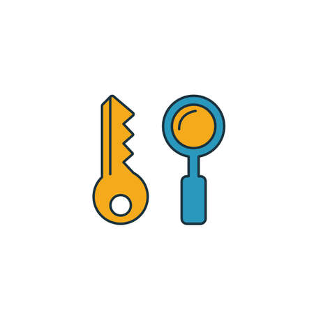 Key Search icon. Simple element from web development icons collection. Creative Key Search icon ui, ux, apps, software and infographics.