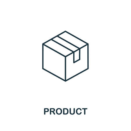 Product icon outline style. Thin line creative Product icon for graphic design and more. 일러스트