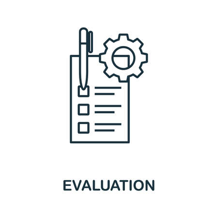 Evaluation icon outline style. Thin line creative Evaluation icon for   graphic design and more. 일러스트