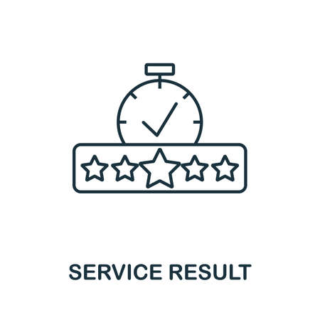 Service Result icon outline style. Thin line creative Service Result icon for  graphic design and more.