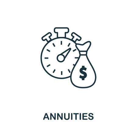 Annuities icon outline style. Thin line creative Annuities icon for  graphic design and more.