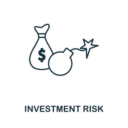 Investment Risk icon outline style. Thin line creative Investment Risk icon