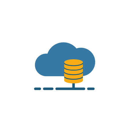 Cloud Database icon. Flat creative element from big data icons collection. Colored cloud database icon for templates, web design and software. Ilustracja