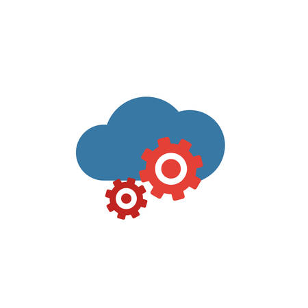 Cloud Management icon. Flat creative element from big data icons collection. Colored cloud management icon for templates, web design and software.