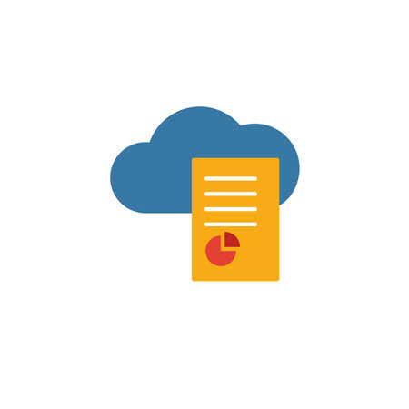 Cloud Report icon. Flat creative element from big data icons collection. Colored cloud report icon for templates, web design and software.