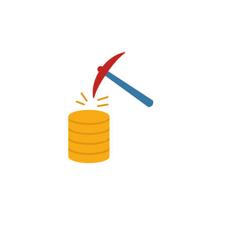 Data Mining icon. Flat creative element from big data icons collection. Colored data mining icon for templates, web design and software.