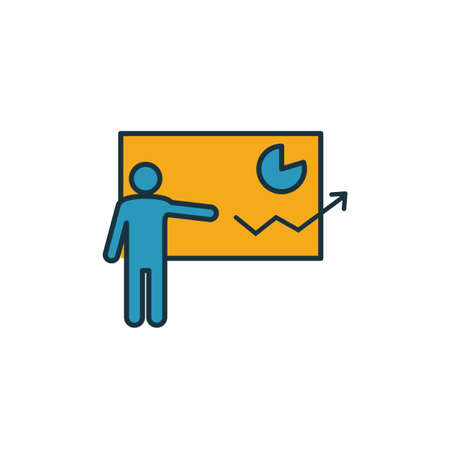 Presentation Skills icon. Simple element from soft skills icons collection. Creative Presentation Skills icon ui, ux, apps, software and infographics.
