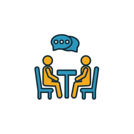 Verhandlungssymbol. Einfaches Element aus der Sammlung von Soft Skills-Symbolen. Kreatives Verhandlungssymbol ui, ux, Apps, Software und Infografiken. Vektorgrafik
