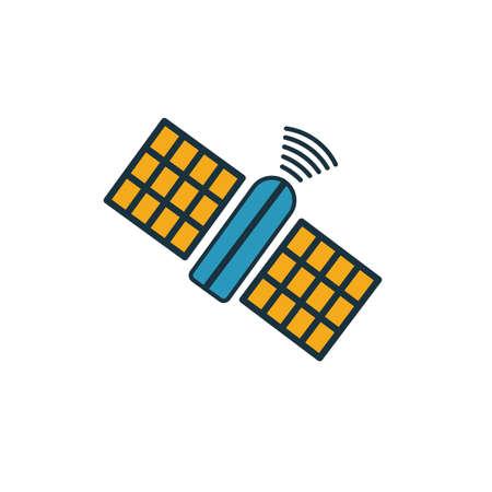 Weltraum-Satellitensymbol. Einfaches Element aus der Sammlung von Weltraumsymbolen. Creative Space Satellite Symbol ui, ux, Apps, Software und Infografiken.