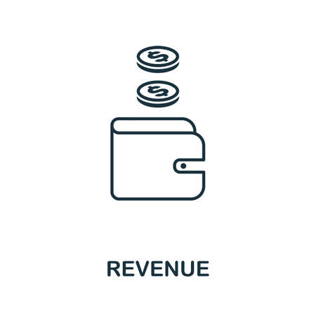 Revenue icon outline style. Thin line creative Revenue icon for graphic design and more.
