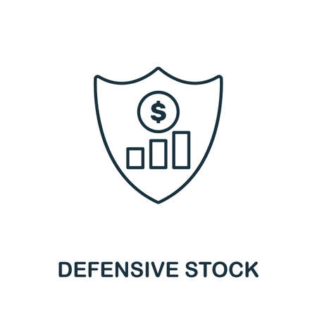 Defensive Stock icon outline style. Thin line creative Defensive Stock icon for graphic design and more.