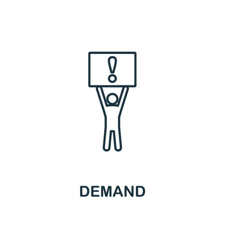 Demand icon outline style. Thin line creative Demand icon for  graphic design and more. Ilustrace
