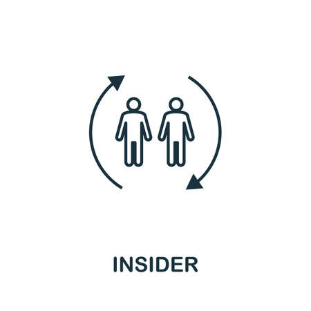 Insider icon outline style. Thin line creative Insider icon for   graphic design and more. 일러스트