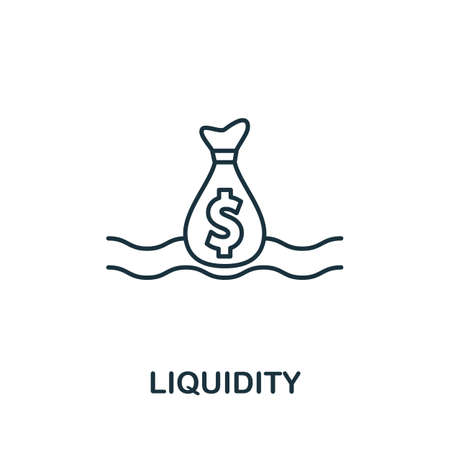 Liquidity icon outline style. Thin line creative Liquidity icon for   graphic design and more.