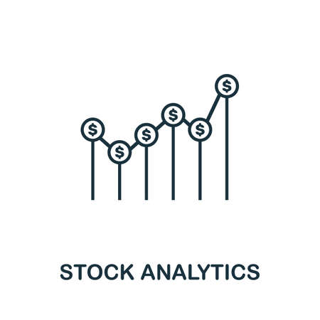 Stock Analytics icon outline style. Thin line creative Stock Analytics icon