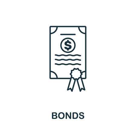 Bonds icon outline style. Thin line creative Bonds icon