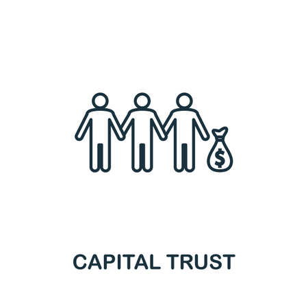 Capital Trust icon outline style. Thin line creative Capital Trust icon