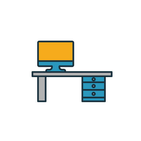 Workplace icon. Simple element from productivity icons collection. Creative Workplace icon ui, ux, apps, software and infographics. Ilustracja