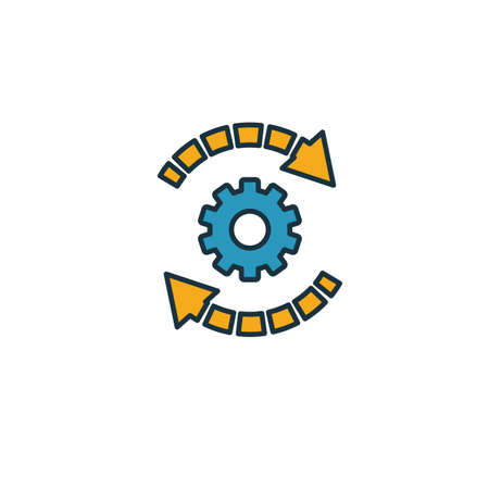Automation icon. Simple element from productivity icons collection. Creative Automation icon ui, ux, apps, software and infographics. Ilustracja