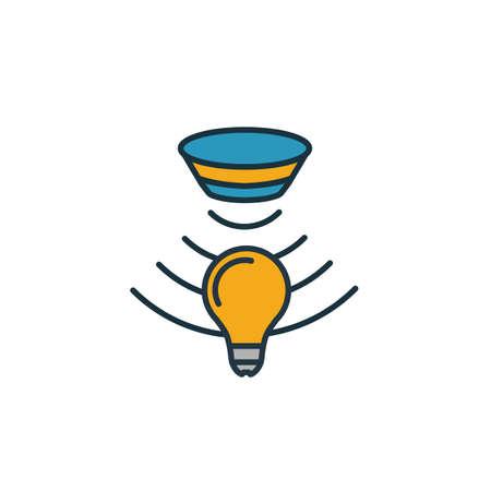 Icône du capteur de lumière. Élément simple de la collection d'icônes de capteurs. Icône Creative Light Sensor ui, ux, applications, logiciels et infographies.