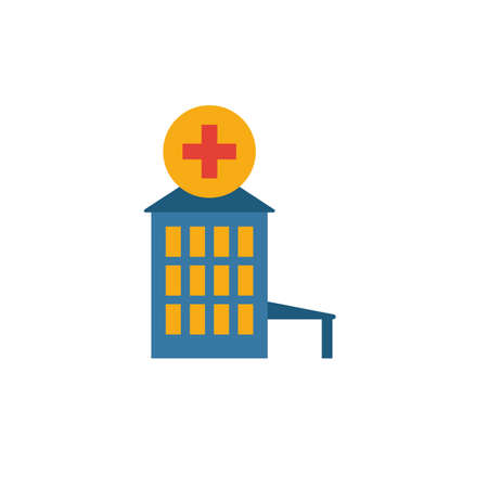 Hospital icon. Simple element from city elements icons collection. Creative Hospital icon ui, ux, apps, software and infographics. Standard-Bild - 133879402