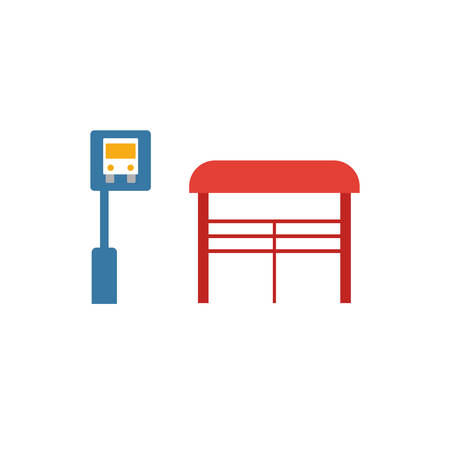Bus Stop icon. Simple element from city elements icons collection. Creative Bus Stop icon ui, ux, apps, software and infographics.