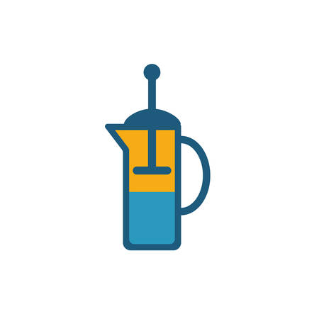 French Press icon. Simple flat element from coffe shop collection. Creative french press icon for templates, software and apps. Ilustrace