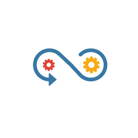 Production icon. Simple flat element from community collection. Creative production icon for templates, software and apps. Ilustracja