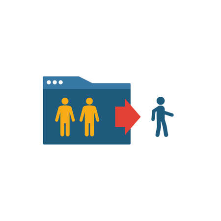 Exit Rate icon. Simple flat element from content collection. Creative exit rate icon for templates, software and apps. Ilustrace